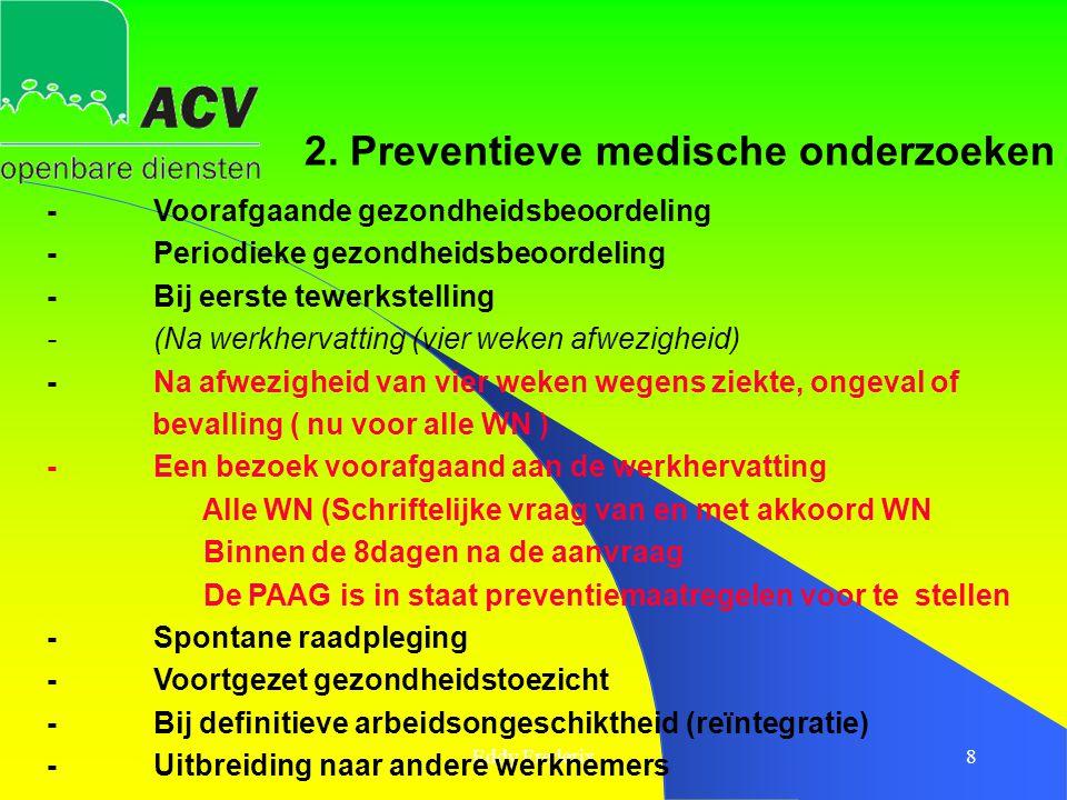 2. Preventieve medische onderzoeken