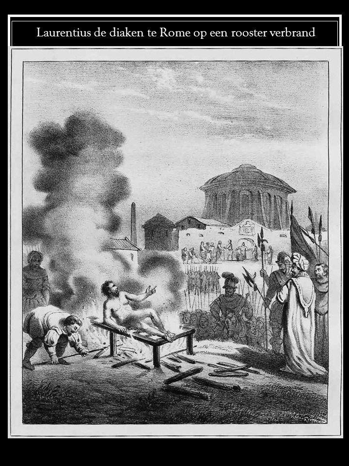 Laurentius de diaken te Rome op een rooster verbrand