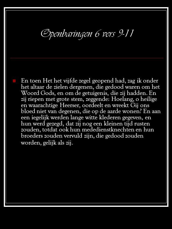 Openbaringen 6 vers 9-11