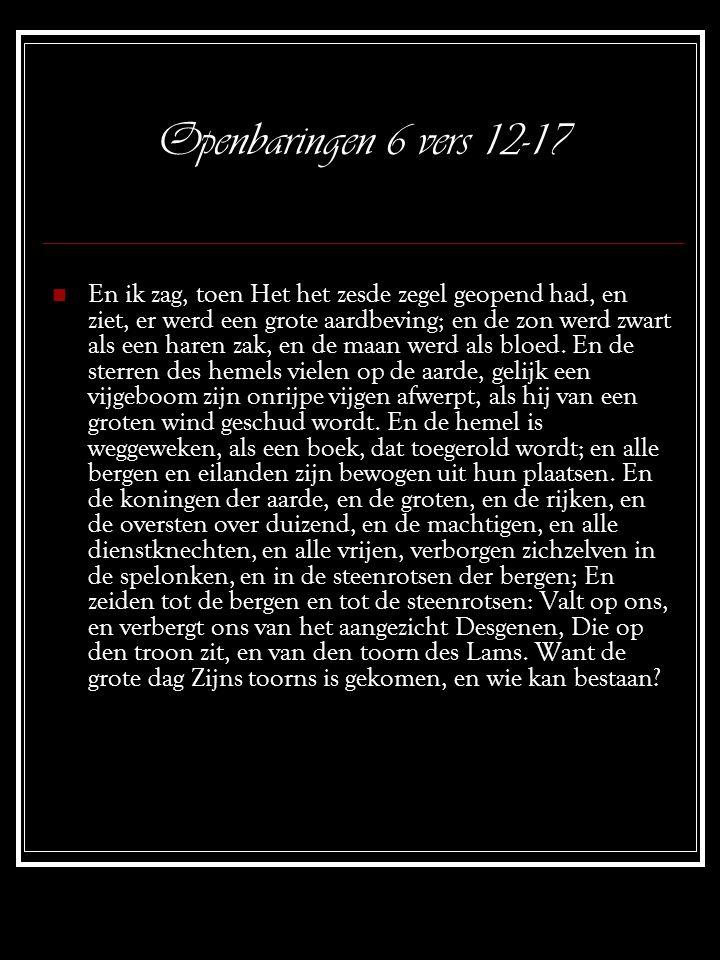 Openbaringen 6 vers 12-17