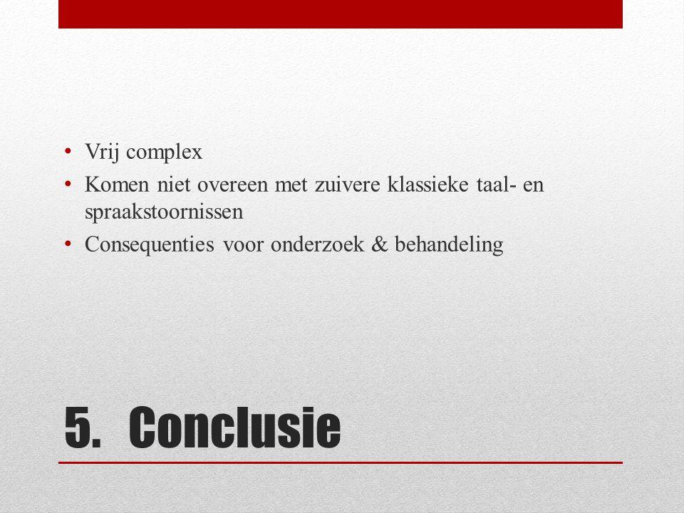 5. Conclusie Vrij complex