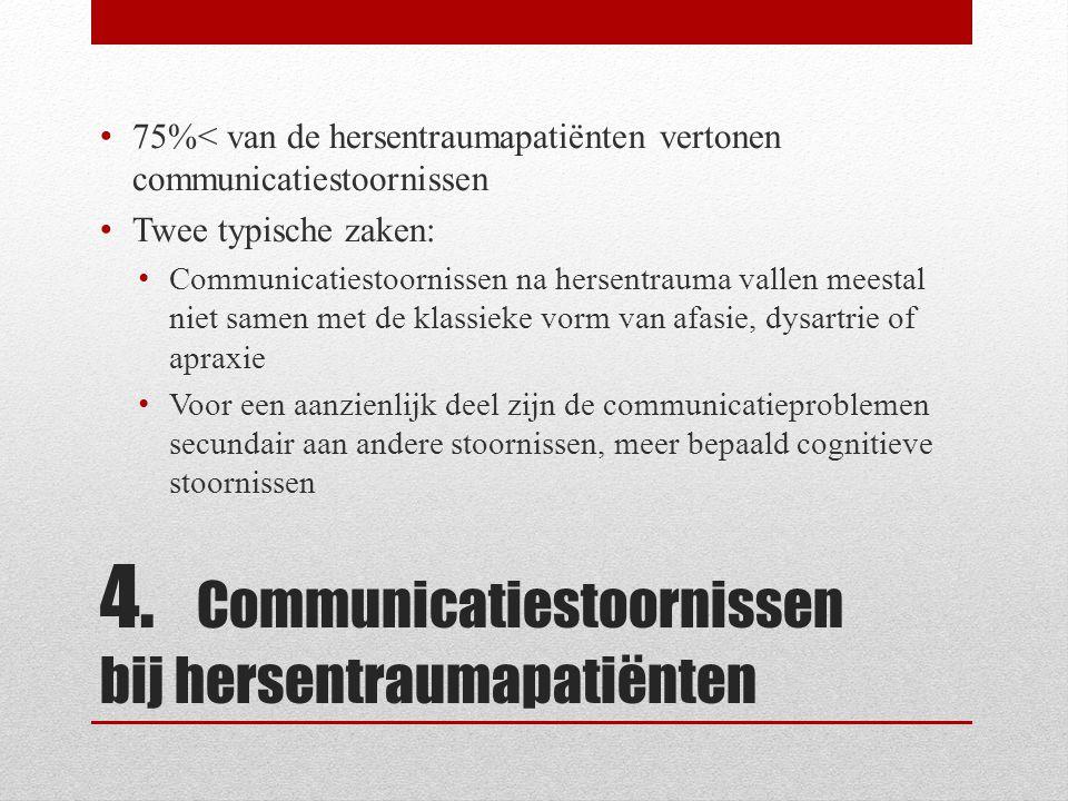 4. Communicatiestoornissen bij hersentraumapatiënten