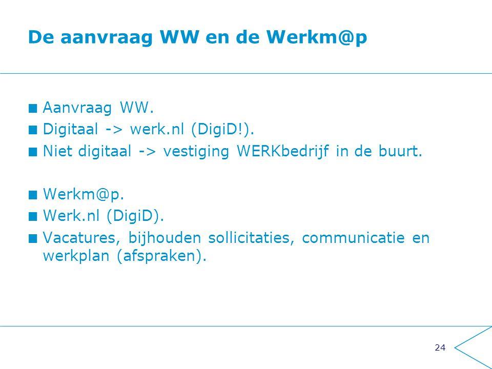 De aanvraag WW en de Werkm@p
