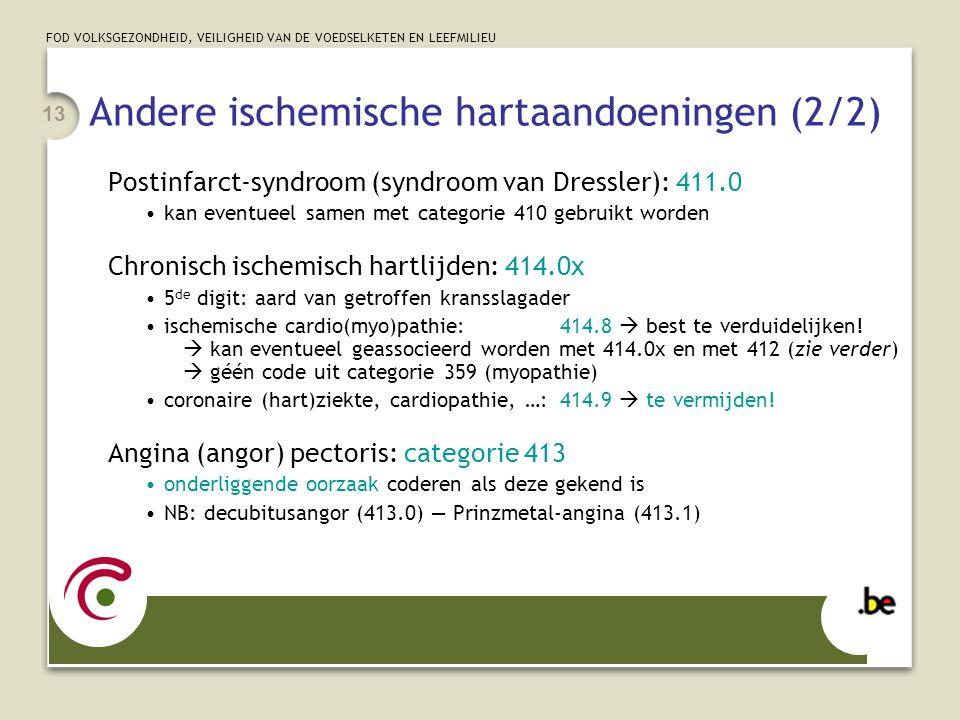 Andere ischemische hartaandoeningen (2/2)