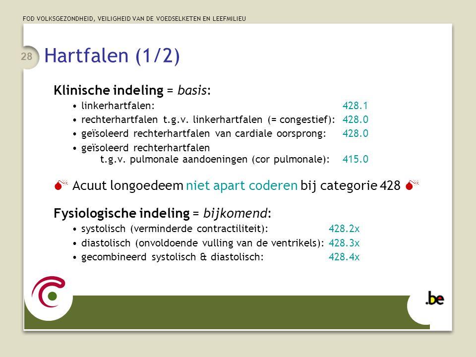 Hartfalen (1/2) Klinische indeling = basis: