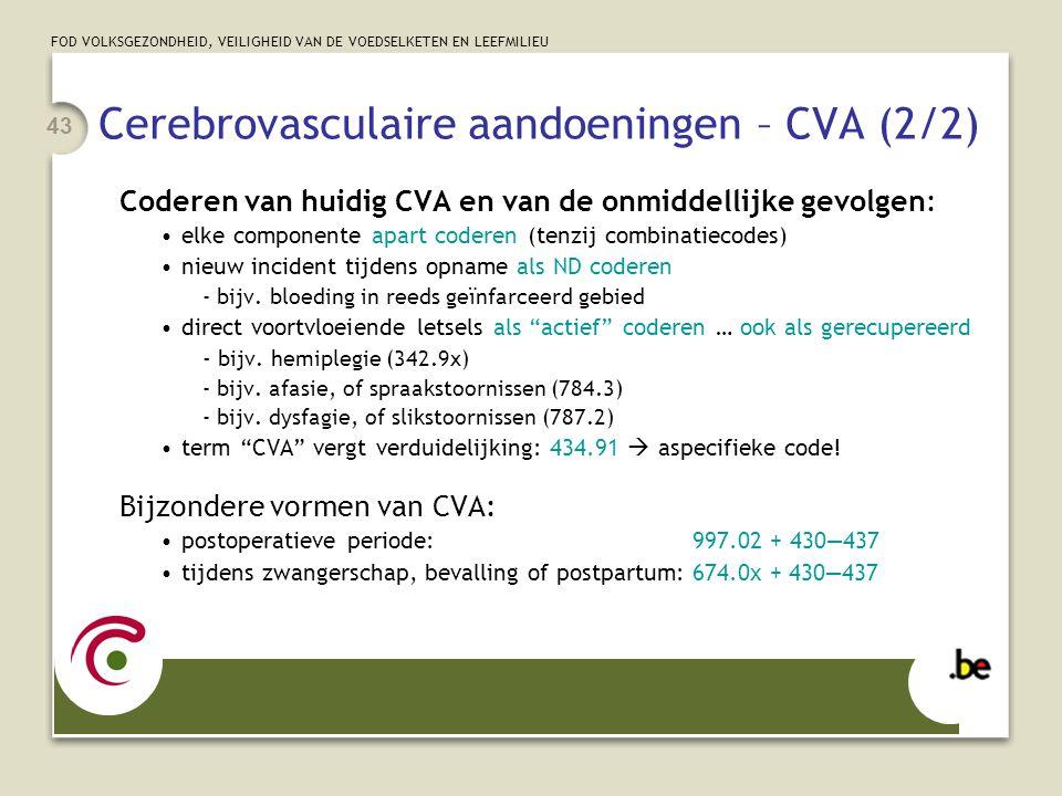 Cerebrovasculaire aandoeningen – CVA (2/2)