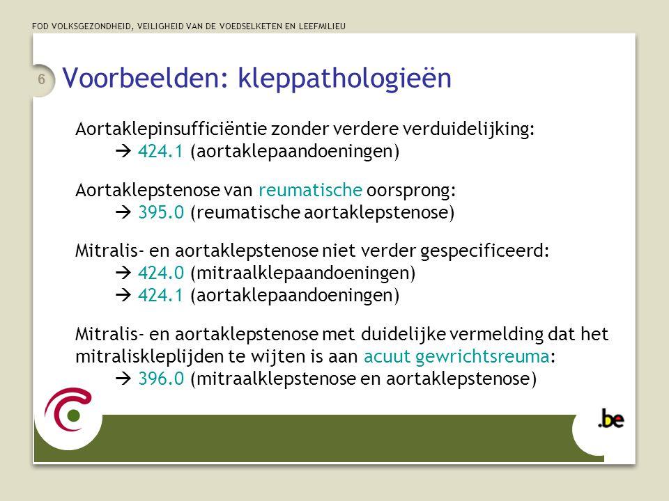 Voorbeelden: kleppathologieën