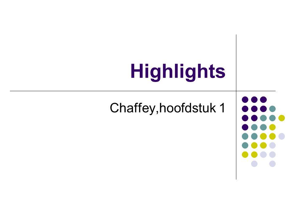 Highlights Chaffey,hoofdstuk 1