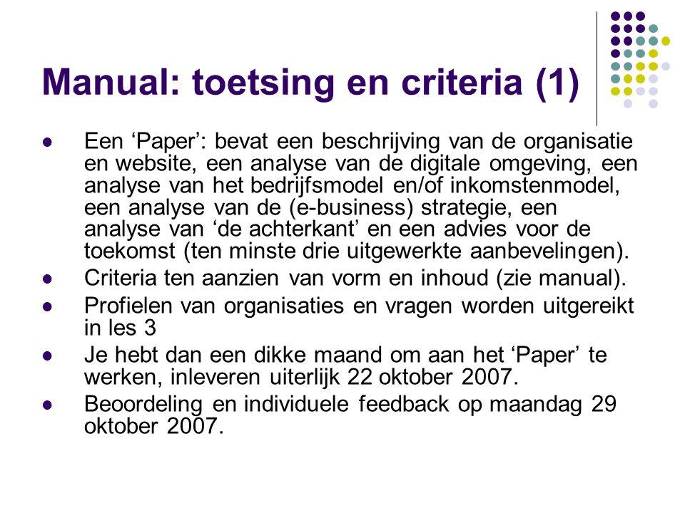 Manual: toetsing en criteria (1)