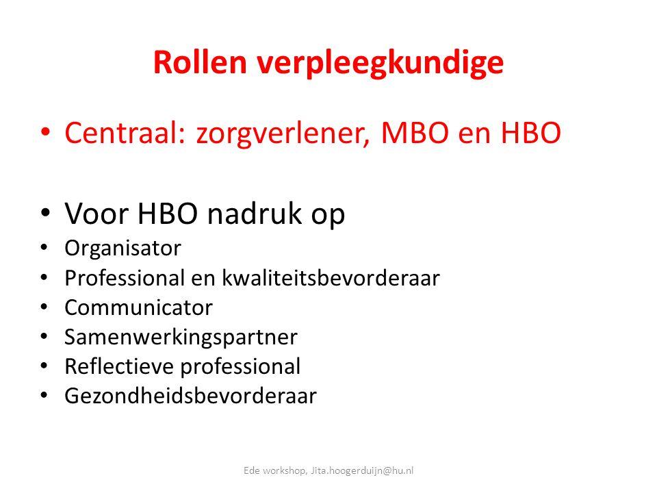 Rollen verpleegkundige