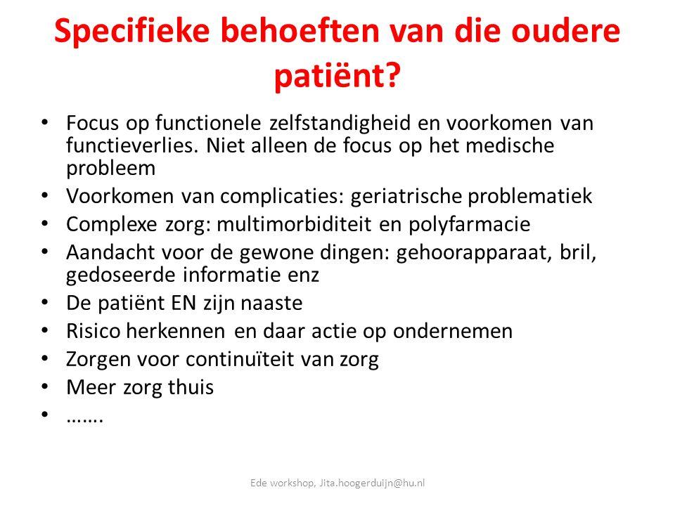 Specifieke behoeften van die oudere patiënt