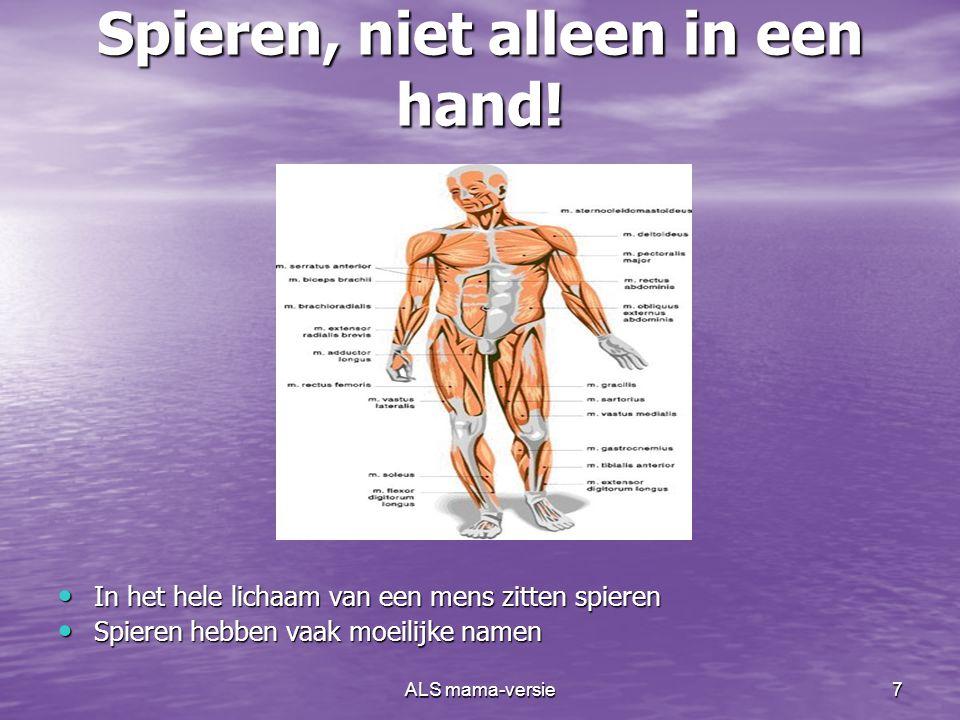 Spieren, niet alleen in een hand!