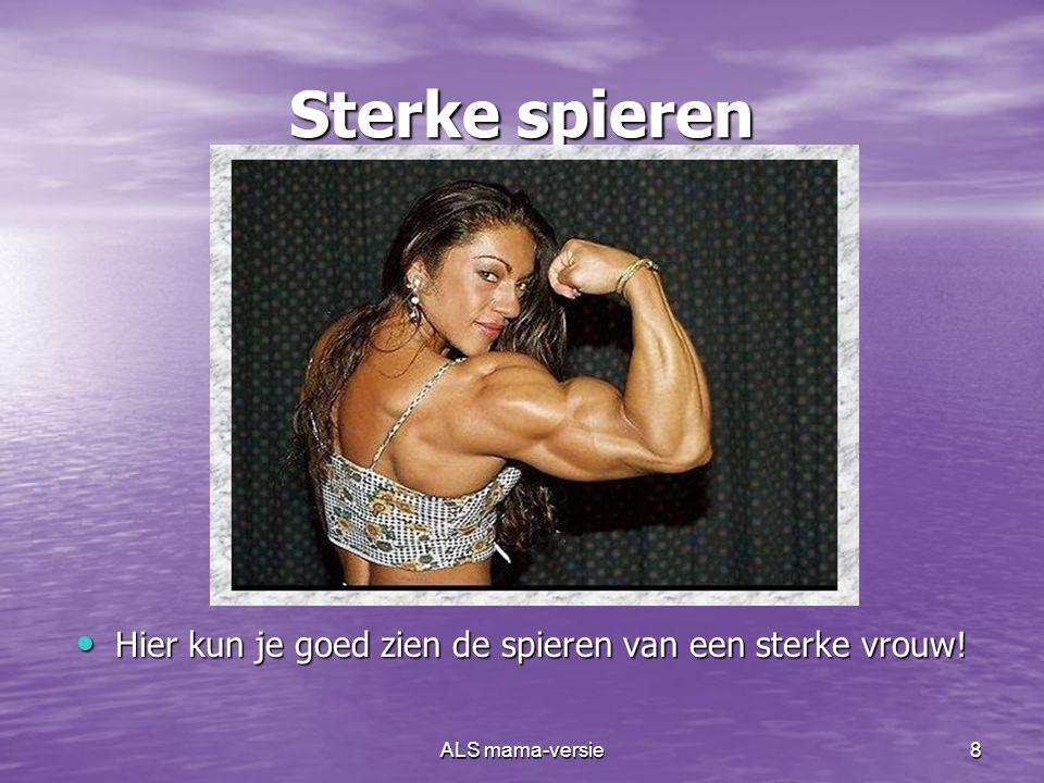 Hier kun je goed zien de spieren van een sterke vrouw!