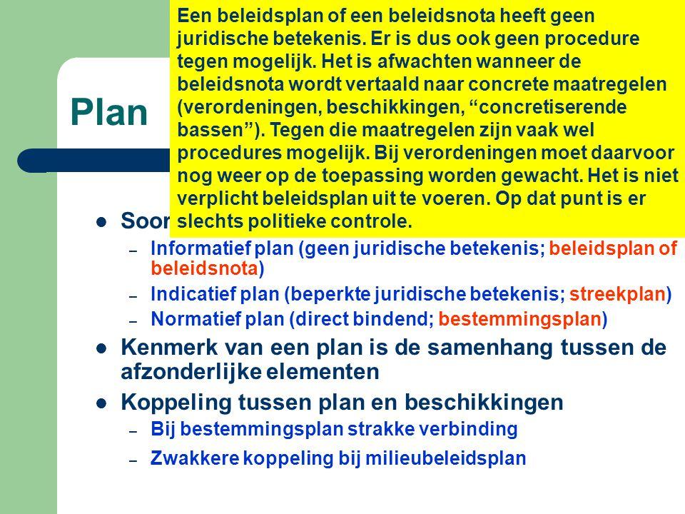 Een beleidsplan of een beleidsnota heeft geen juridische betekenis