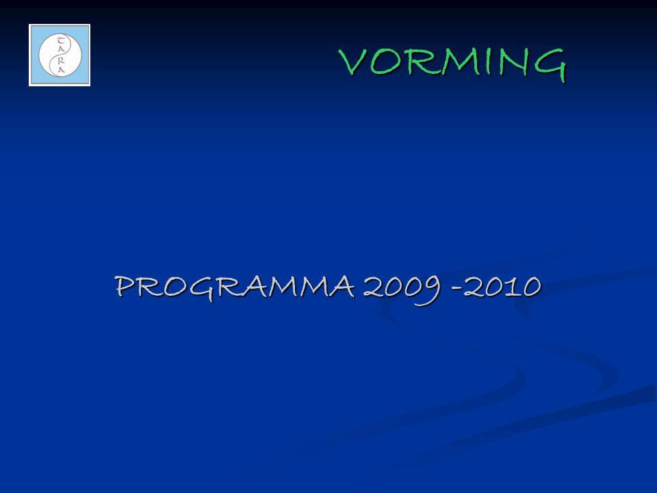 VORMING PROGRAMMA 2009 -2010