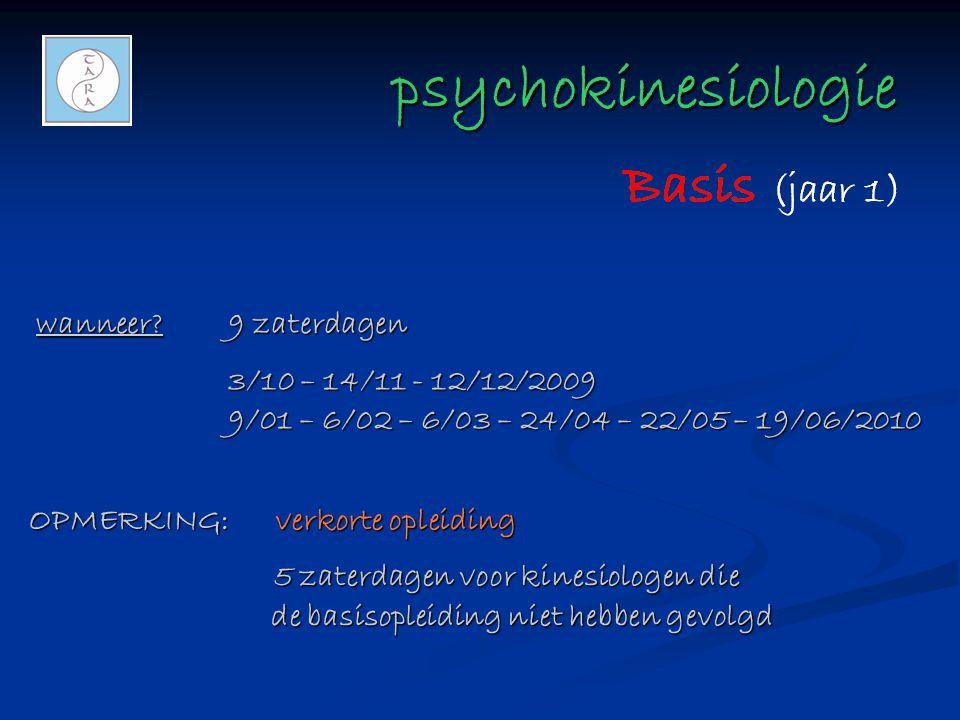 psychokinesiologie wanneer 9 zaterdagen