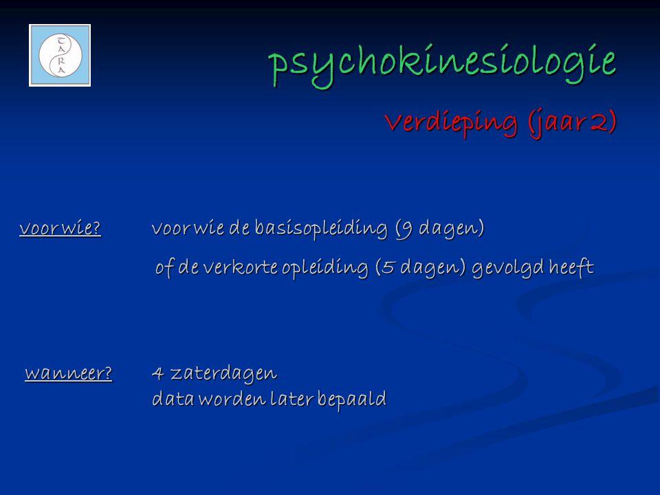 psychokinesiologie Verdieping (jaar 2)