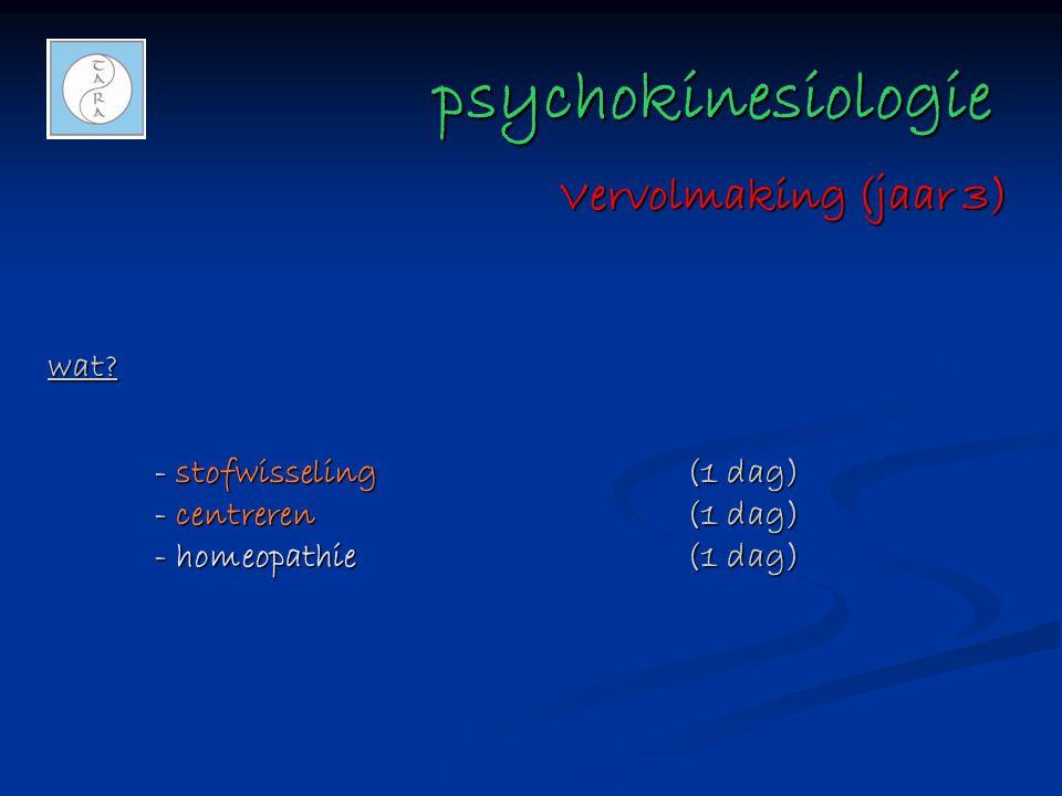 psychokinesiologie Vervolmaking (jaar 3) wat
