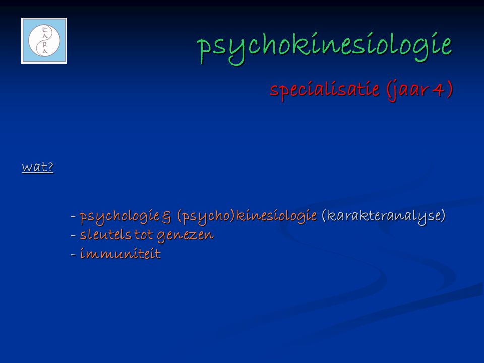psychokinesiologie specialisatie (jaar 4) wat
