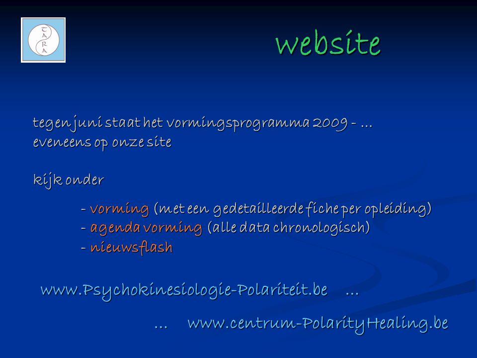 website www.Psychokinesiologie-Polariteit.be …