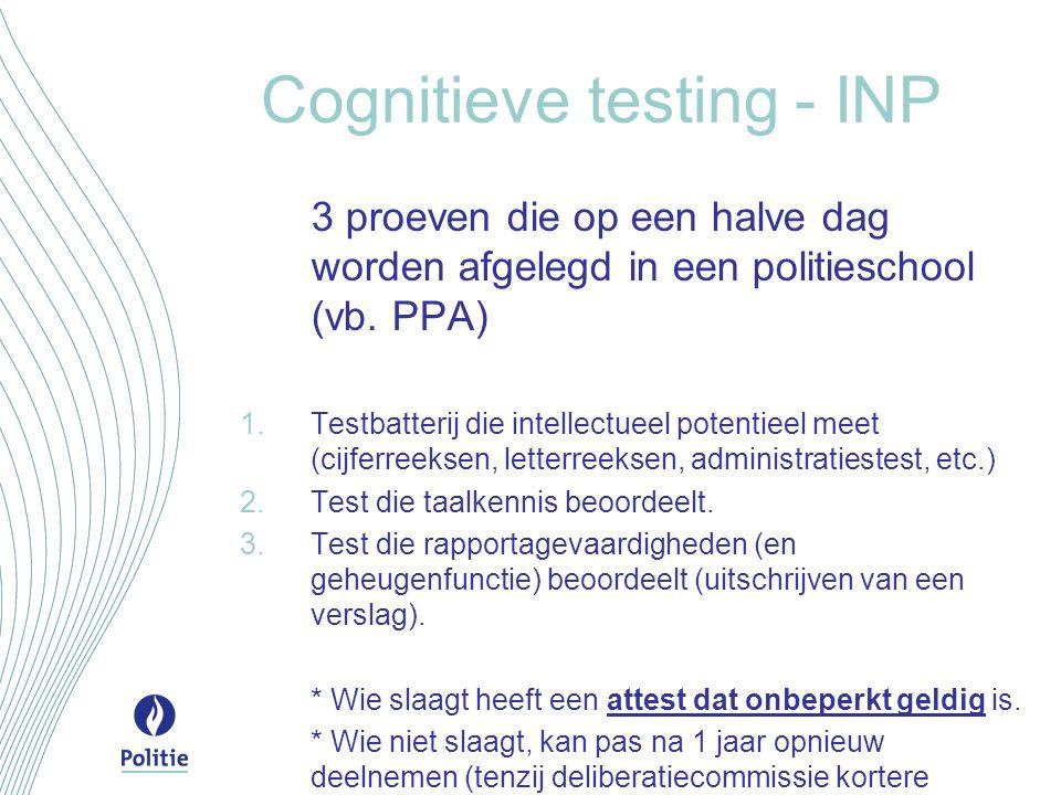 Cognitieve testing - INP
