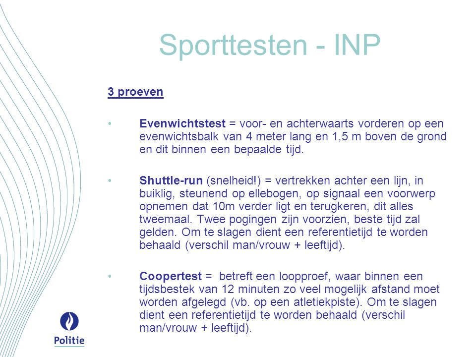 Sporttesten - INP 3 proeven