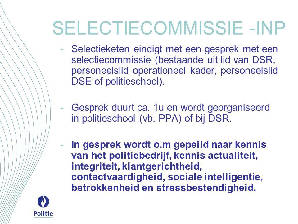 SELECTIECOMMISSIE -INP