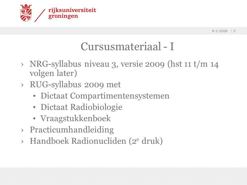 Cursusmateriaal - I NRG-syllabus niveau 3, versie 2009 (hst 11 t/m 14 volgen later) RUG-syllabus 2009 met.