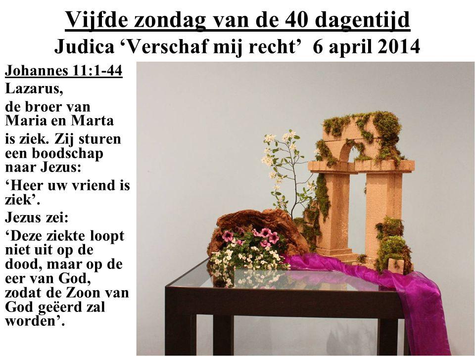 Vijfde zondag van de 40 dagentijd Judica 'Verschaf mij recht' 6 april 2014