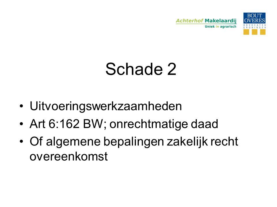 Schade 2 Uitvoeringswerkzaamheden Art 6:162 BW; onrechtmatige daad