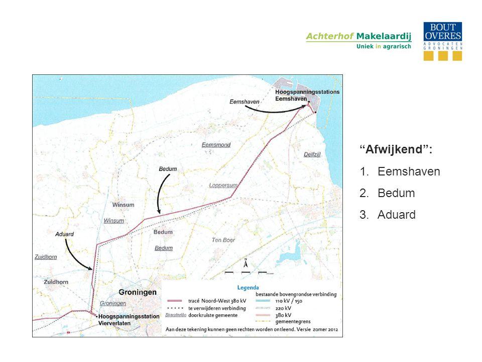 Afwijkend : Eemshaven Bedum Aduard