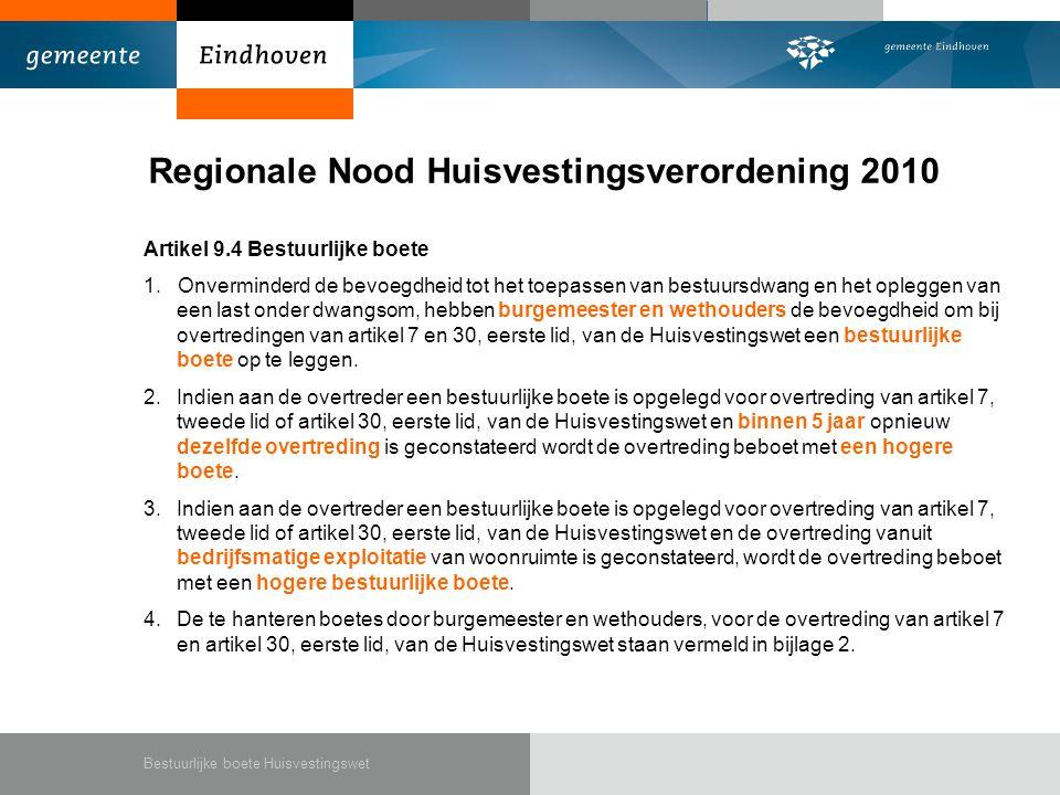 Regionale Nood Huisvestingsverordening 2010