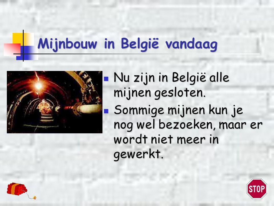 Mijnbouw in België vandaag