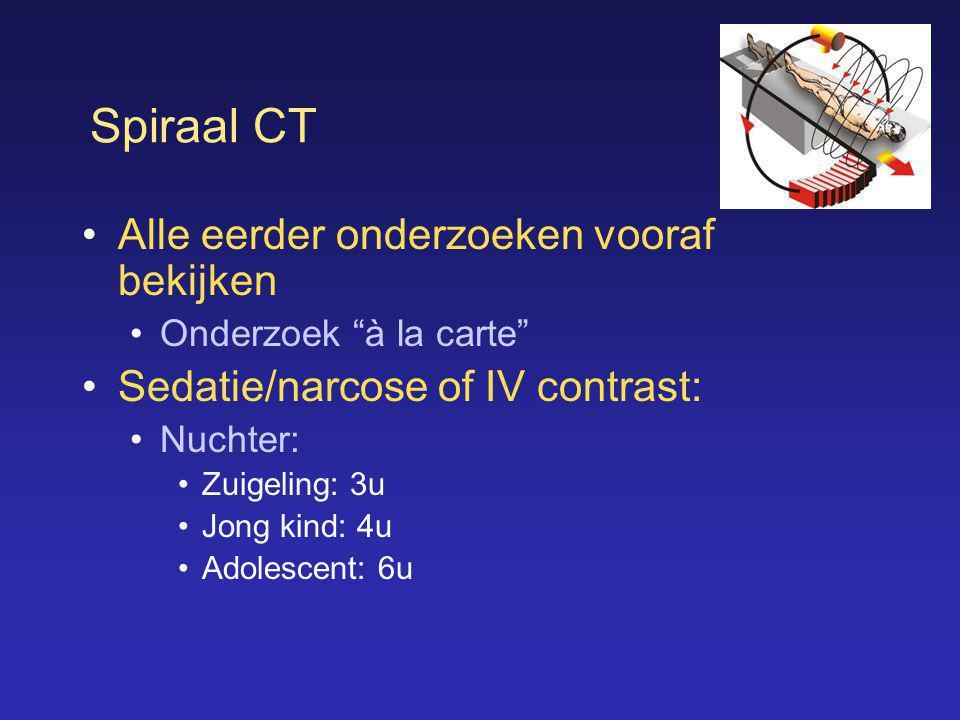Spiraal CT Alle eerder onderzoeken vooraf bekijken
