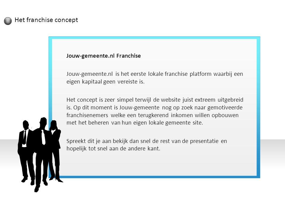 Het franchise concept Jouw-gemeente.nl Franchise