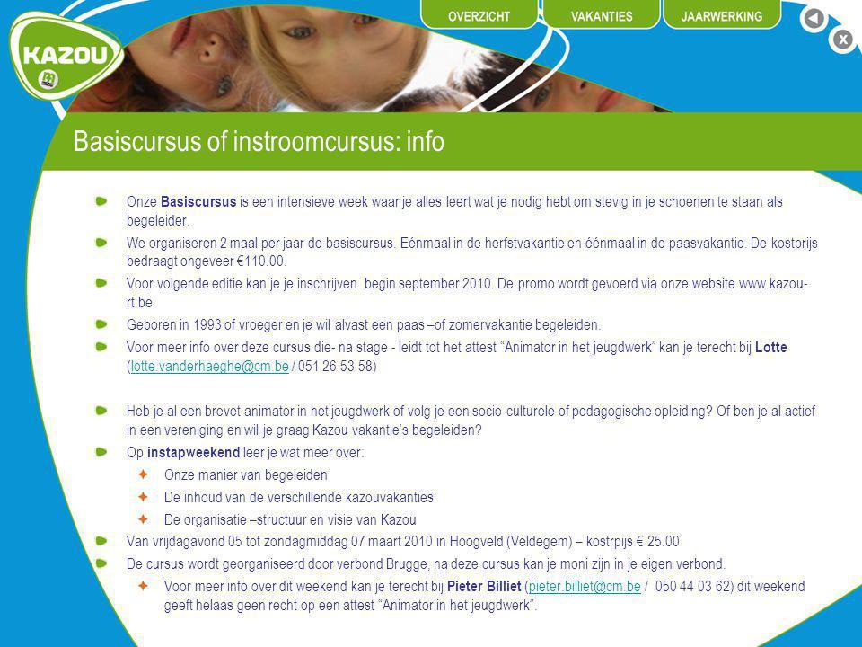Basiscursus of instroomcursus: info