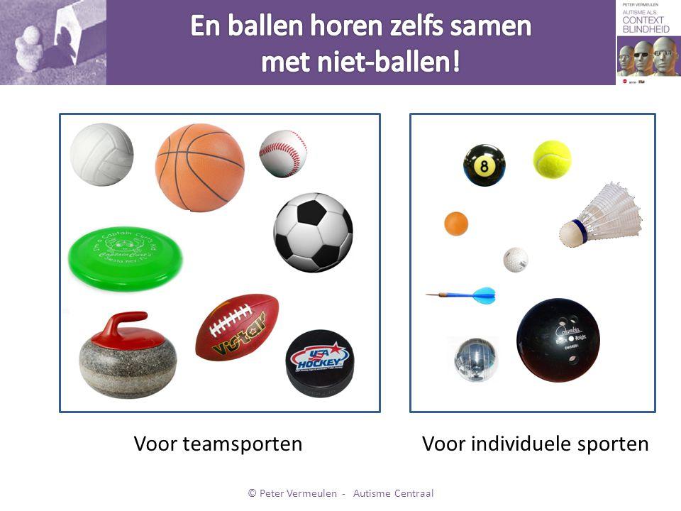 En ballen horen zelfs samen met niet-ballen!