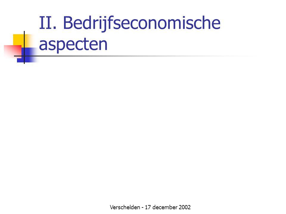 II. Bedrijfseconomische aspecten