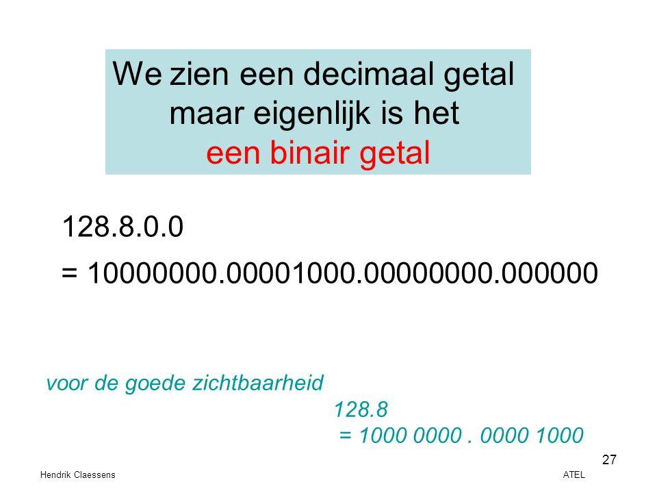 We zien een decimaal getal