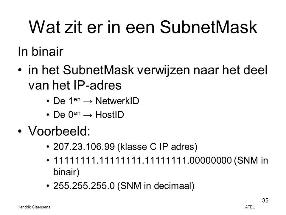 Wat zit er in een SubnetMask