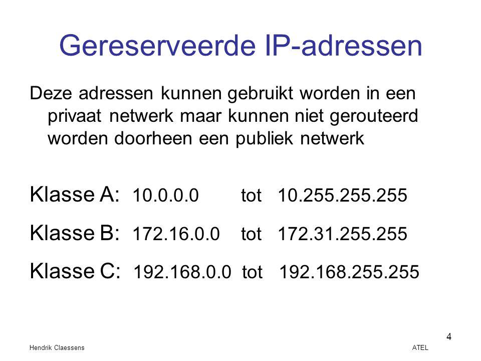 Gereserveerde IP-adressen