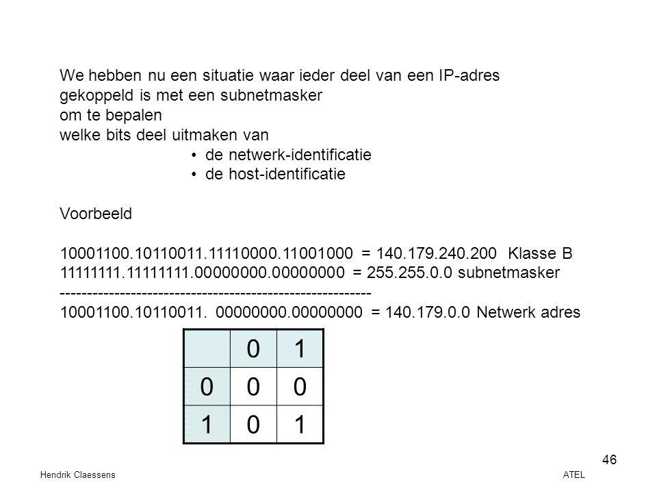 1 We hebben nu een situatie waar ieder deel van een IP-adres