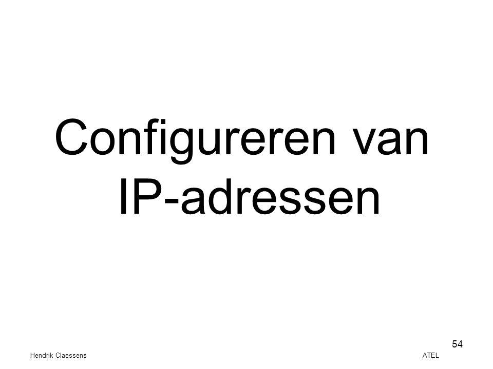 Configureren van IP-adressen.