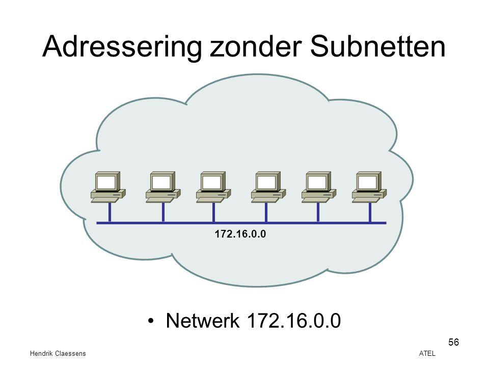 Adressering zonder Subnetten