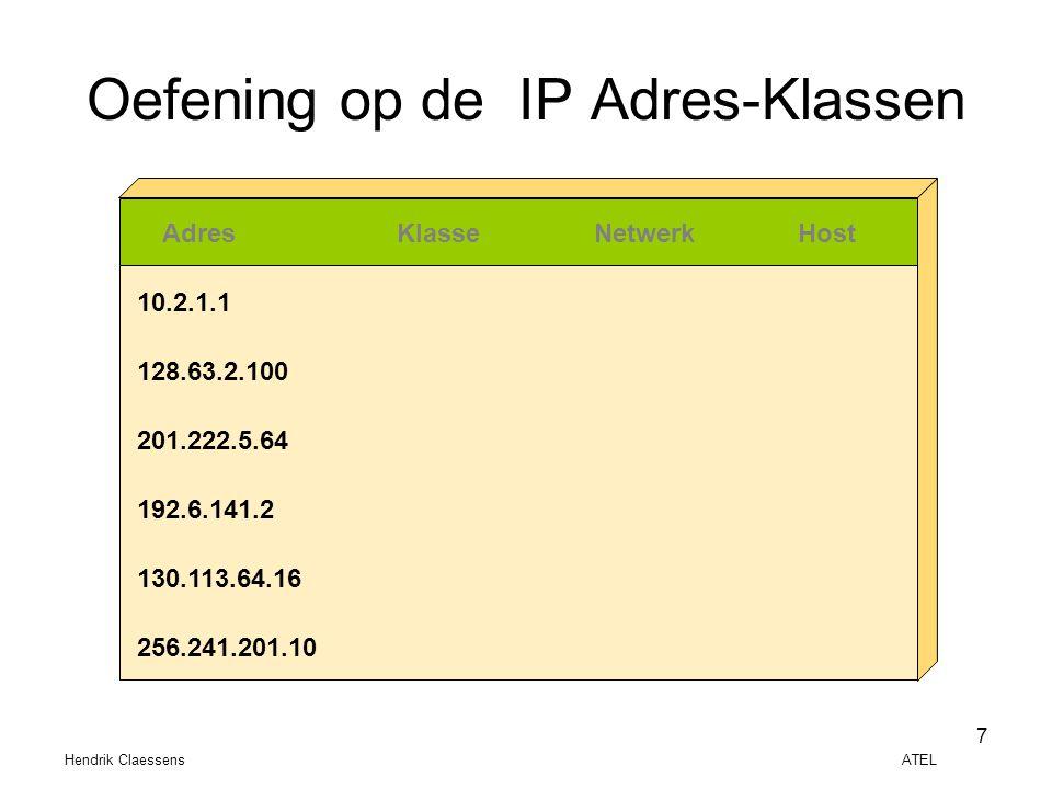 Oefening op de IP Adres-Klassen