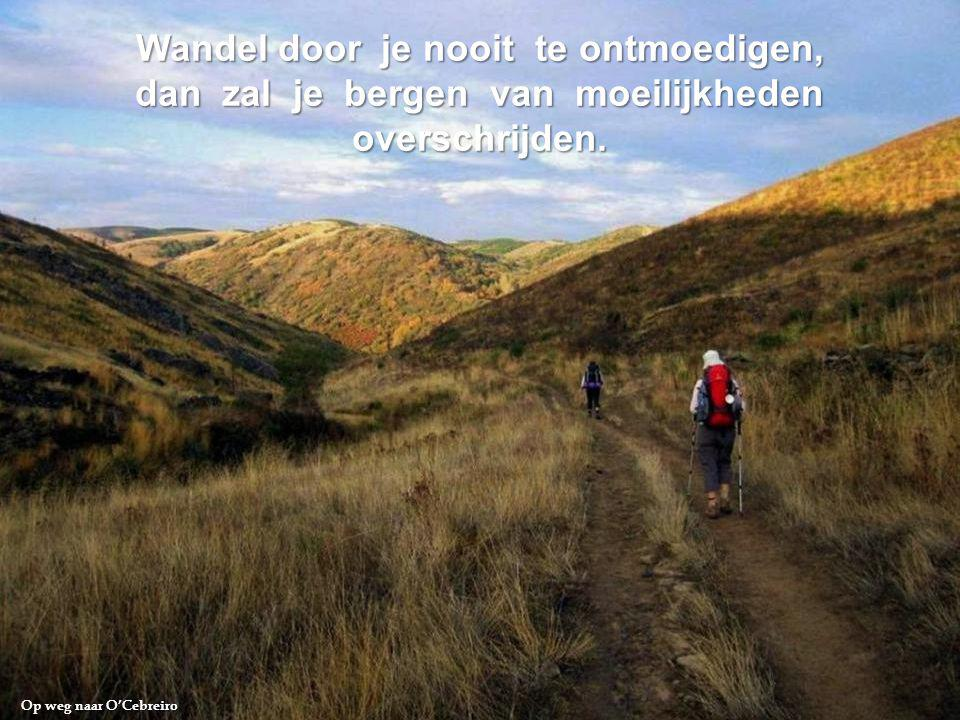 Wandel door je nooit te ontmoedigen,