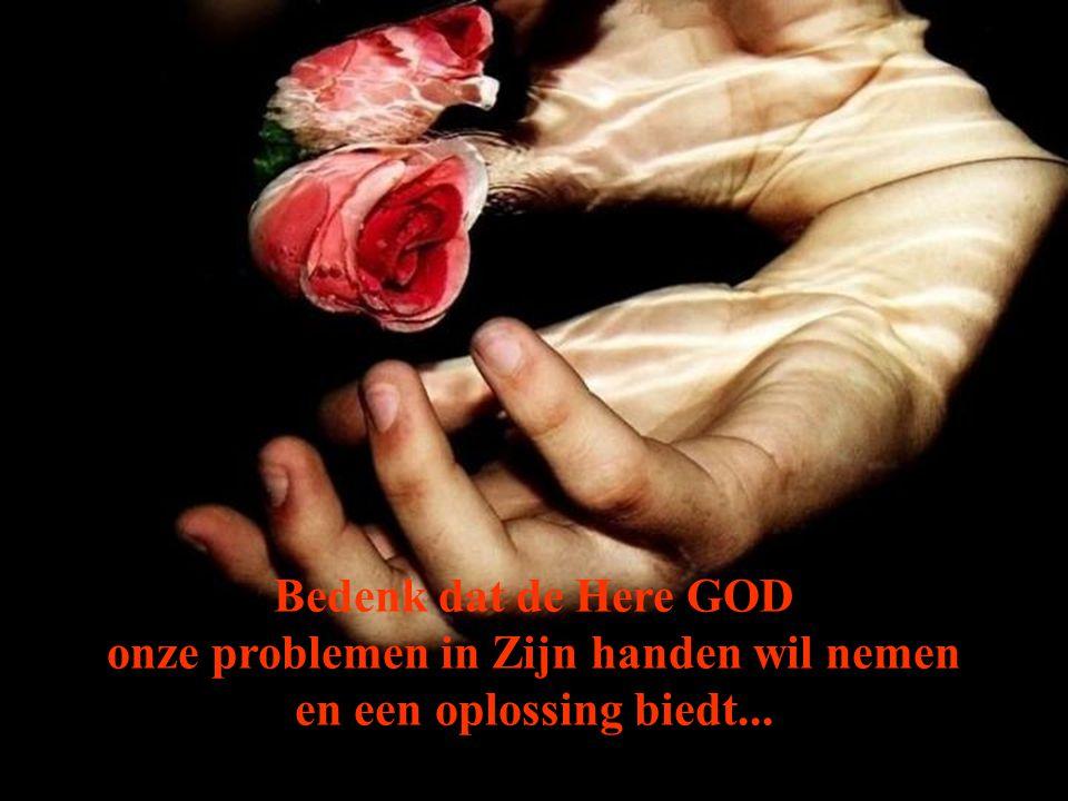 onze problemen in Zijn handen wil nemen
