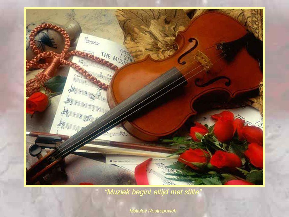 Muziek begint altijd met stilte