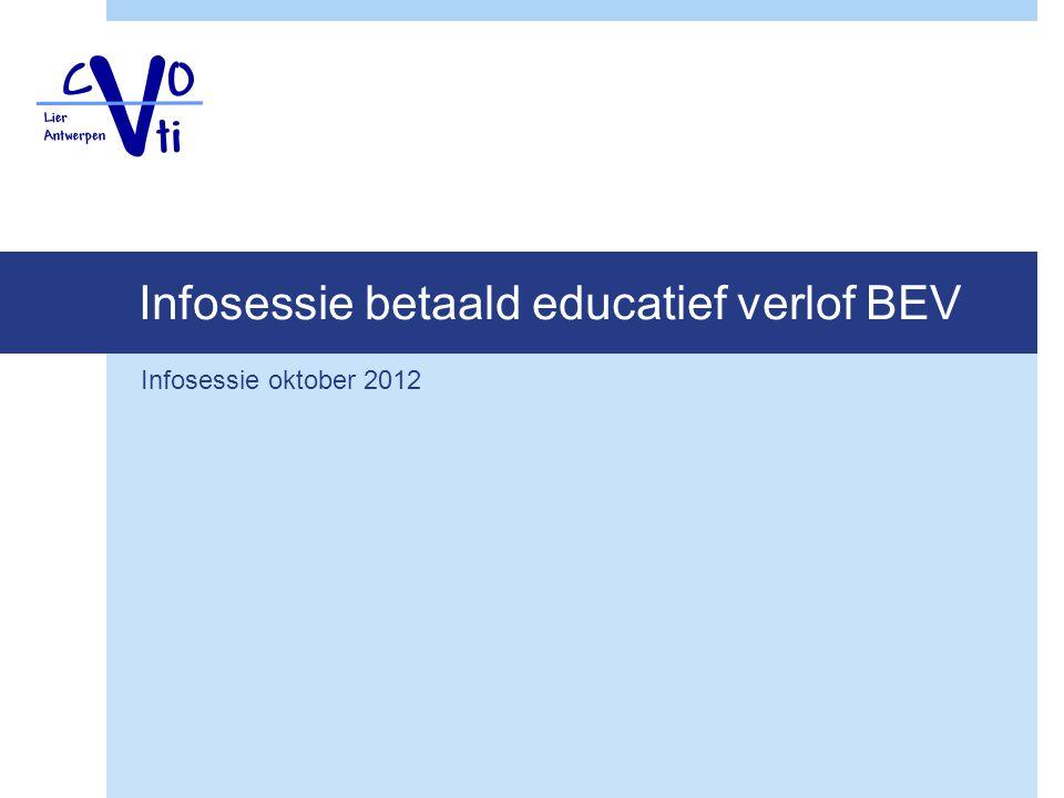 Infosessie betaald educatief verlof BEV