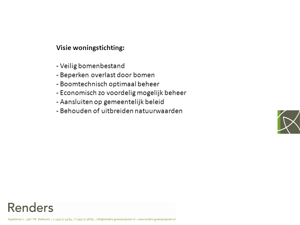 Visie woningstichting: